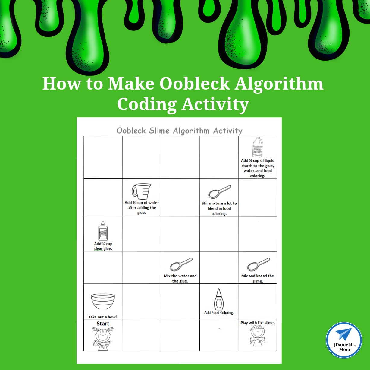 How To Make Oobleck Algorithm Coding Activity