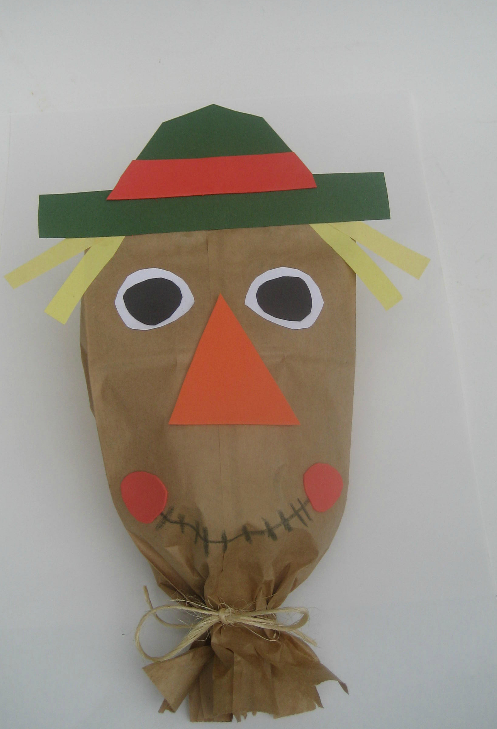 Craft For Kids Paper Bag Scarecrow