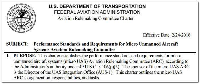 micro drone regulation