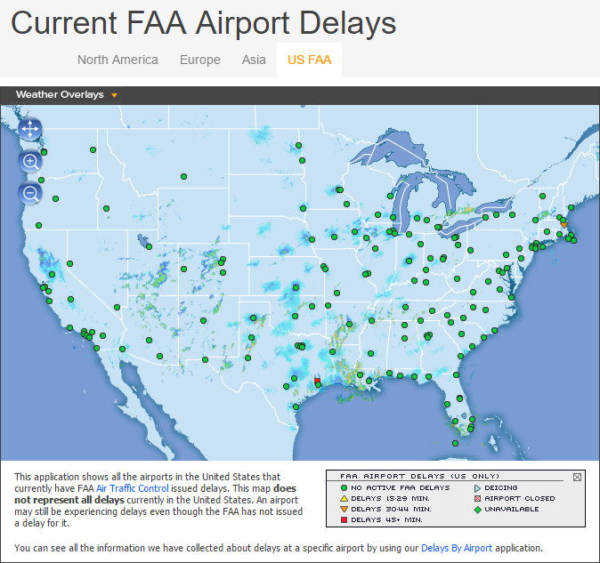 Faa Map Of Us All Airports Closed - Map of all us airports