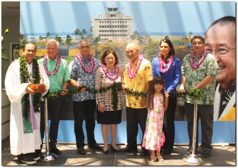 Dedication ceremony Daniel K Inouye International Airport