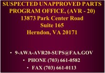 suspected unapproved parts program office faa