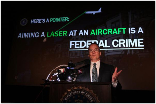 Aiming lasers at aircraft department of justice