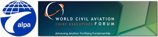 aviation safety goals record alpa world civil forum chief executives