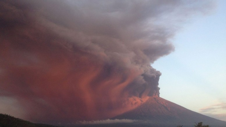 Mt. Agung's eruption