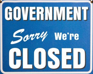 """Government """" Sorry we're closed """""""