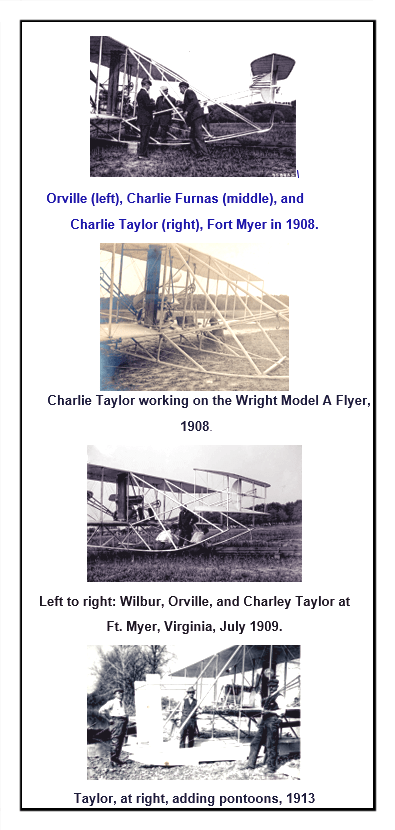 Charley Taylor and Wright Planes