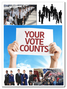 Aviation pilots, flight attendants, mechanics and executives VOTE