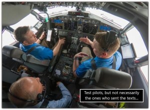 some Boeing test pilots