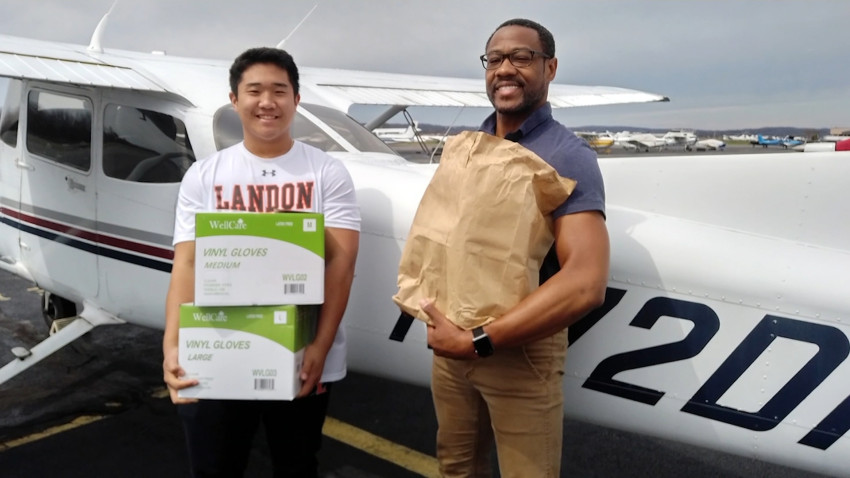 TJ Kim flying med supplies to hospitals