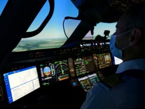 AF pilot and simulator