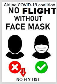 NO FLIGHT WITHOUT MASK