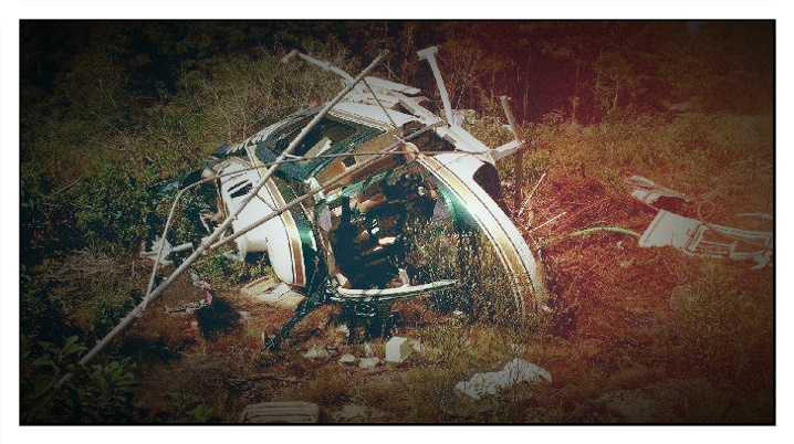 picture of crashed helicopter