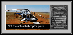 helicopter and plate