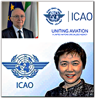 ICAO Council President Mr. Salvatore Sciacchitano and ICAO Secretary General Dr. Fang Liu