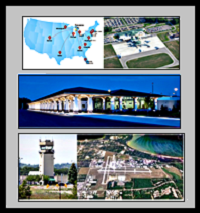 TVC map, airport, terminal, tower, aerial photo