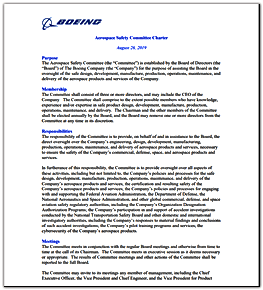 Aerospace Safety Committee charter