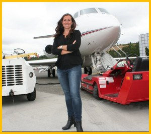 Kimberly Perkins in front of Gulfstream