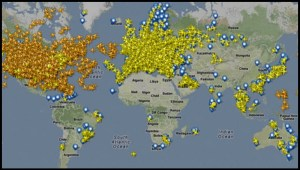 flight tracking global picture