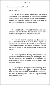 ICAO Chicago Convention Article 55