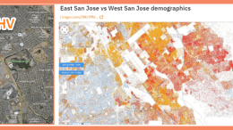 Reid-Hillview airport map and SJC demographic map