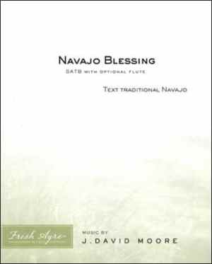 Sheet music cover image for choral composition Navajo Blessing