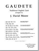 Sheet music cover image for choral arrangement of Gaudete