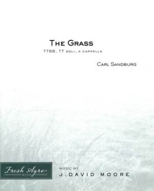 Sheet music cover image for choral composition The Grass