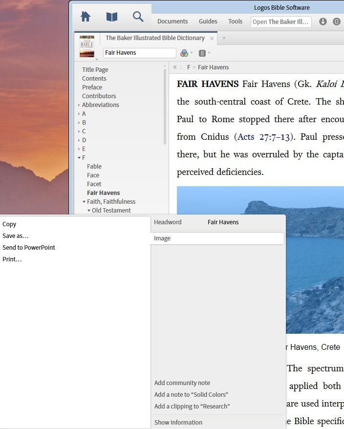 Fair Havens Image Export
