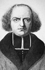 Engraved portrait of J.-P. Migne