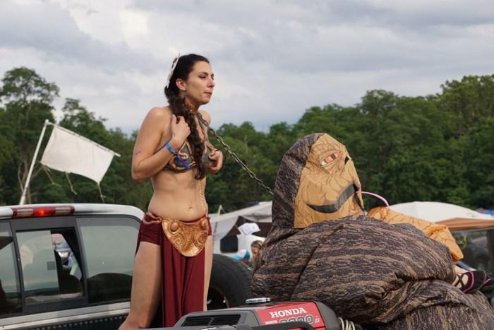 Princess Leia and Jabba