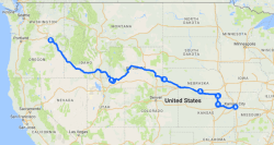 Oregon Trail Driving Map