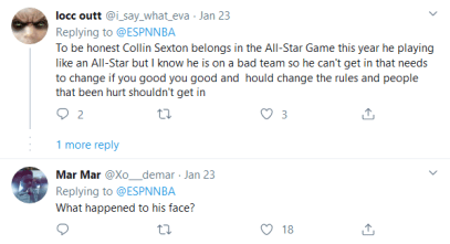 Screenshot_2020-02-05 (4) NBA on ESPN on Twitter Don't jump Collin Sexton on his head 😤 https t co k2dN3XWjqi Twitter(2)