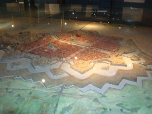 Model of mid-17th century Gothenburg: City Museum