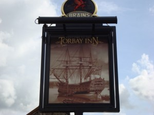 The Torbay Inn pub sign, Ffairfach
