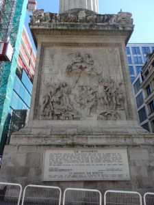 The base of the Monument