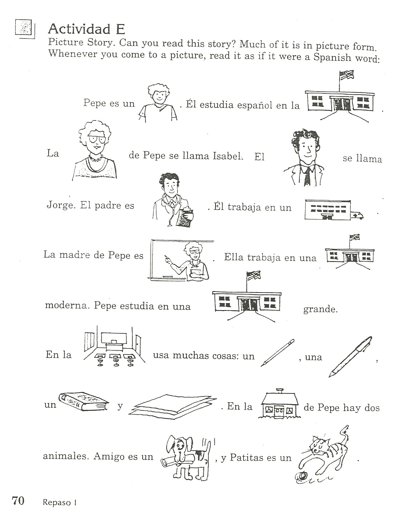 Spanish Family Worksheets