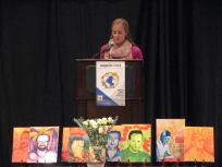 Giving a talk on Islam and interreligious dialogue at the Ignatian Family Teach-In for Justice in 2012.