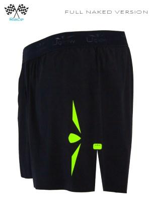 Short 5 trailrunning hombre negro/amarillo,Uglow Speed Aero®
