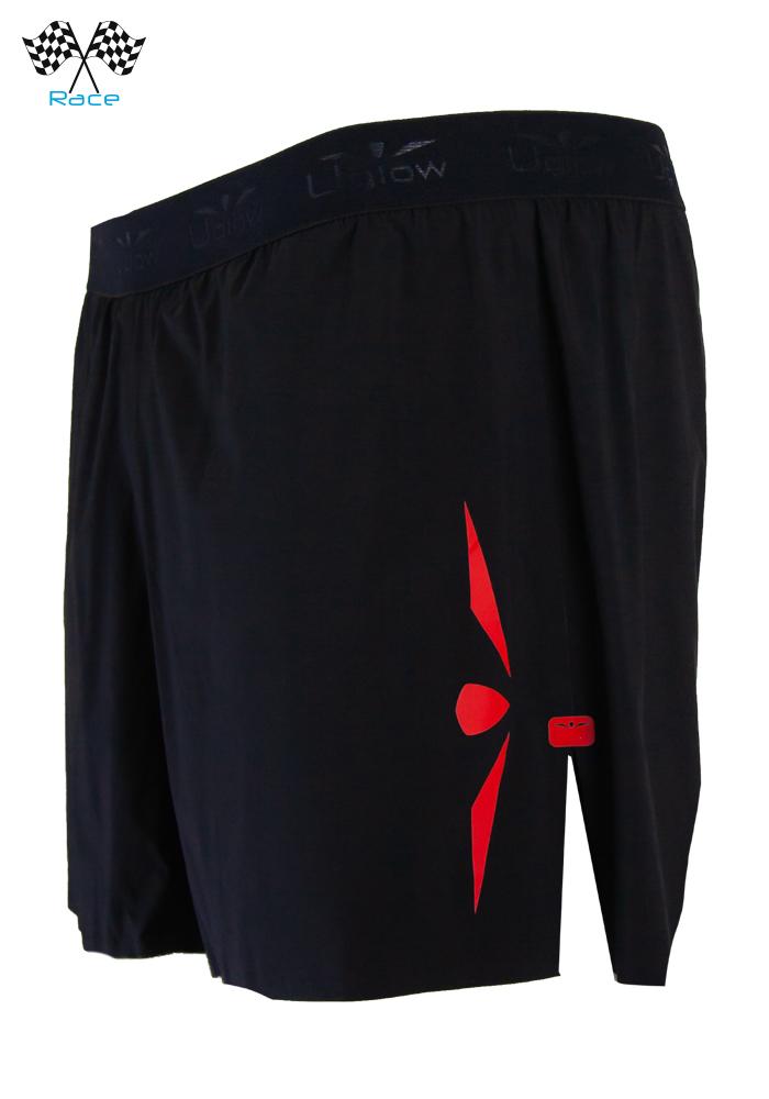 Short 5 Hombre Uglow Speed Aero 2en1 S4 Negro/Rojo