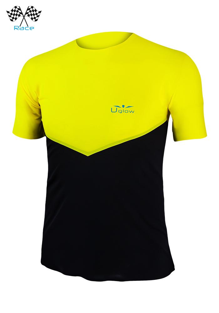 Camiseta De Manga Corta Uglow Speed Aero TSA4 Amarillo/Negro