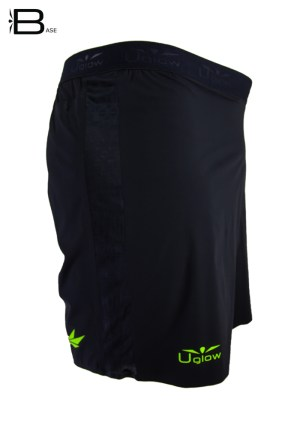 Short 6 running|trailrunning para hombre Uglow Negro/Amarillo® ✓No provoca rozaduras✓ Comodo, ligero, transpirable ✓Entrega entre 24-72h✓¡Hazte con ellos!
