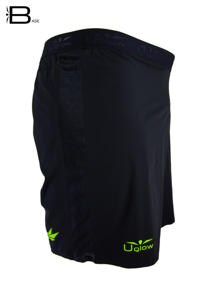 Short 6 running|trailrunning para hombre Uglow S2 Negro/Amarillo
