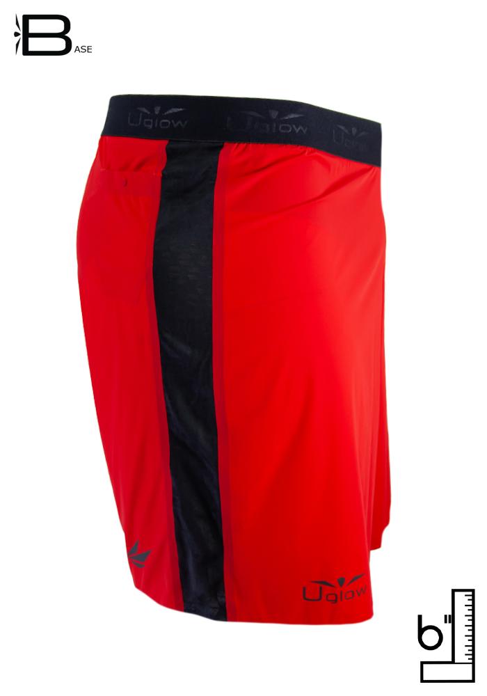 Short 6 running  trailrunning para hombre Uglow S3 Rojo/Negro