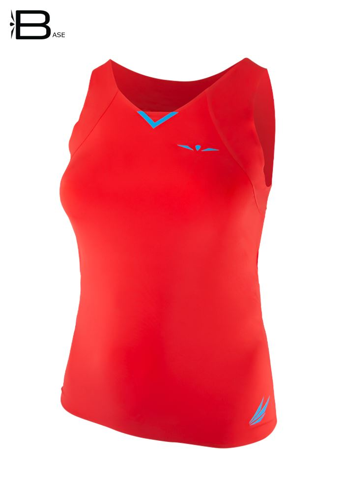 Camiseta running ligera para mujer de tirantes Uglow Base