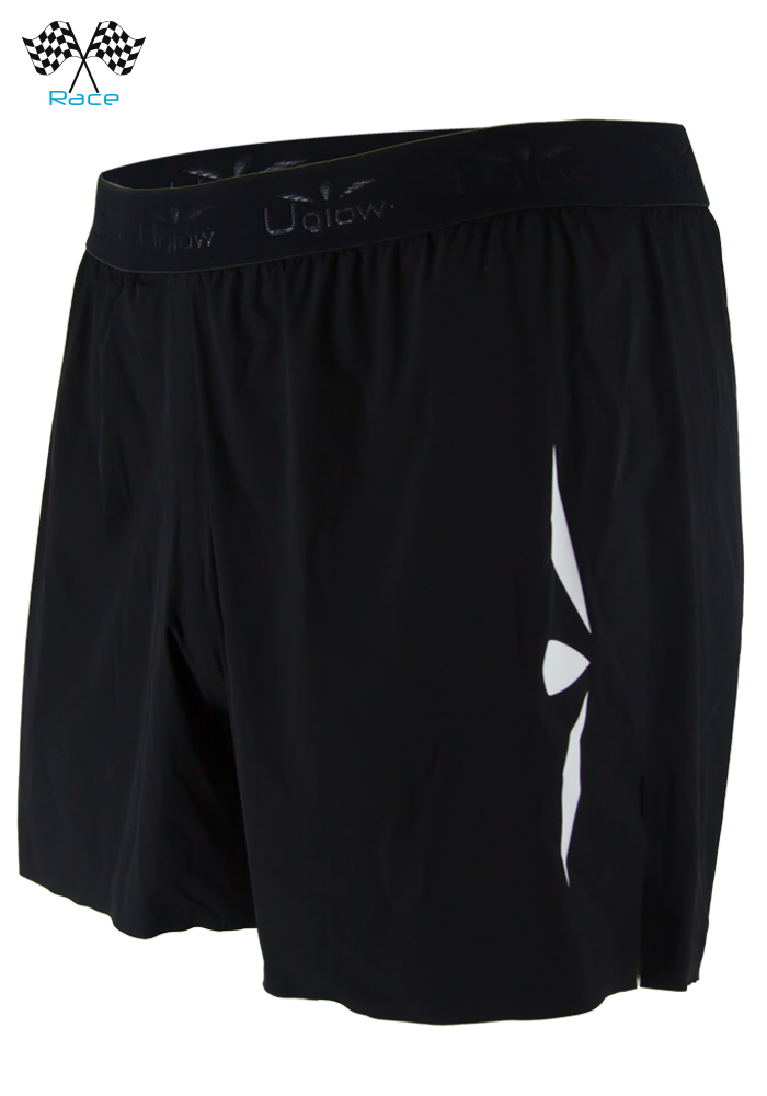 Short 5 trailrunning hombre Uglow Speed Aero Negro/Blanco