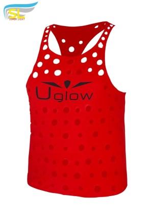 Camiseta de Running Cheese de tirantes Uglow Rojo/Negro