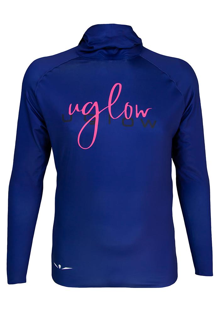 Camiseta térmica de hombre Uglow con capucha Azul Marino
