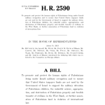 H.R. 2590  ''Defending the Human Rights of Palestinian Children and Families Living Under Israeli Military Occupation Act'' / Gaza Fights For Freedom