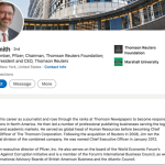 Thompson Reuters Foundation Chairman is also board member at Pfizer